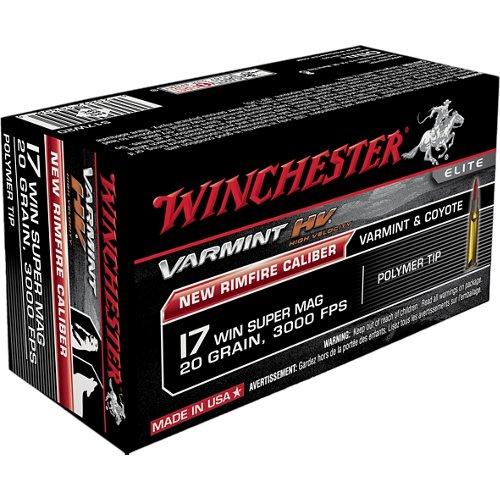 Winchester Varmint HV .17 WSM 20-Grain Rimfire Rifle Ammunition