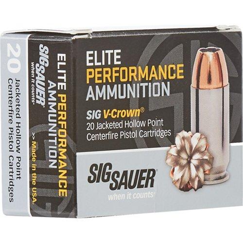 SIG SAUER Elite V-Crown 9 mm 124-Grain Centerfire Ammunition