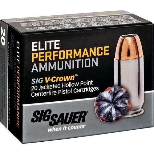 SIG SAUER Elite V-Crown .357 SIG 125-Grain Centerfire Ammunition