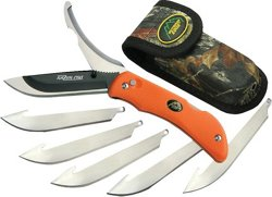 Razor-Pro Folding Replaceable Razor Blade Knife with Gutting Blade