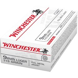 USA Full Metal Jacket 9 mm Luger 115-Grain Handgun Ammunition