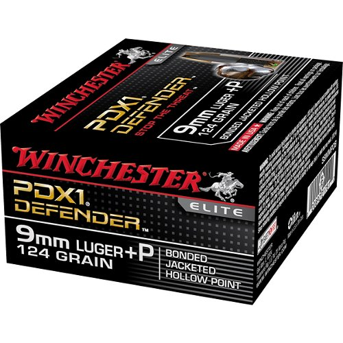 Winchester Bonded PDX1 9 mm Luger +P 124-Grain Handgun Ammunition
