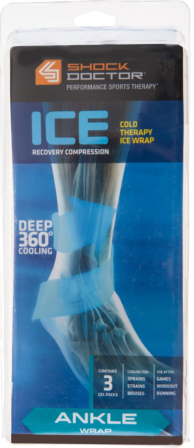Shock Doctor Adults' Ice Recovery Ankle Compression Wrap
