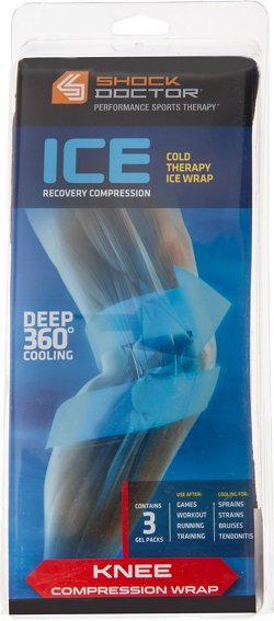 Shock Doctor Adults' Ice Recovery Knee Compression Wrap