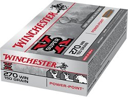 Winchester Super-X Power-Point .270 Winchester 150-Grain Rifle Ammunition