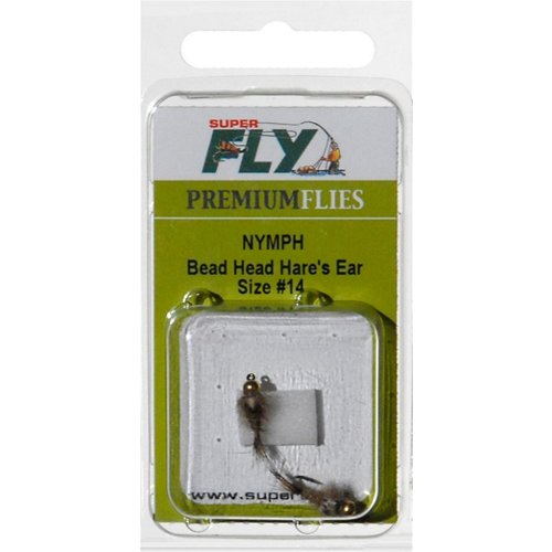 Superfly Bead Head Hare's Ear Size 14 Nymph Flies 2-Pack
