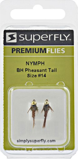 Superfly Bead Head Pheasant-Tail Size 14 Nymph Flies 2-Pack