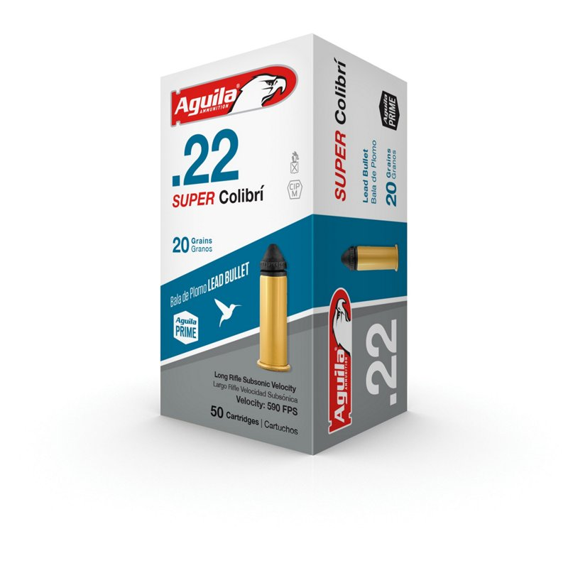 Aguila Ammunition Super Colibri .22 20-Grain Rimfire Ammunition - Rimfire Shells at Academy Sports thumbnail