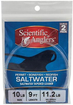 Scientific Anglers 9 ft Bonefish Saltwater Leaders 2-Pack