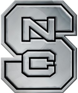 Stockdale North Carolina State University Chrome Metal Freeform Auto Emblem