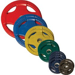 255 lb. Colored Rubber Grip Olympic Plate Set