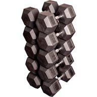 Body-Solid 80 - 100 lb. Rubber Coated Hex Dumbbell Set