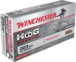 Winchester Power-Point Hog Special .223 Remington 64-Grain Centerfire Rifle Ammunition