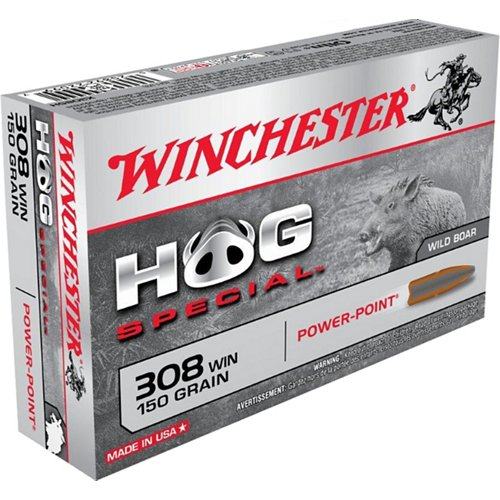 Winchester Power-Point Hog Special .308 Winchester 150-Grain Centerfire Rifle Ammunition