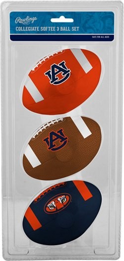 Rawlings Auburn University 3rd Down Softee Footballs 3-Pack