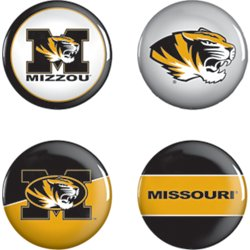 University of Missouri Buttons 4-Pack