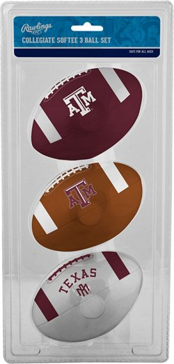 Rawlings Texas A&M University 3rd Down Softee Footballs 3-Pack