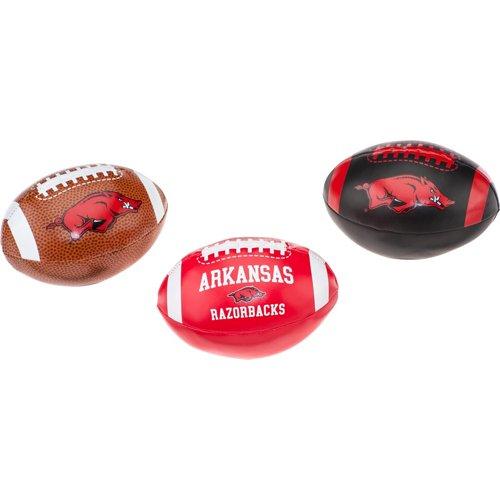 Rawlings University of Arkansas 3rd Down Softee Footballs 3-Pack