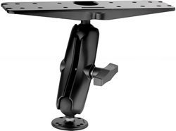 "RAM 3"" x 11"" Adapter with Double Socket Arm and 2.5"" Round Base"