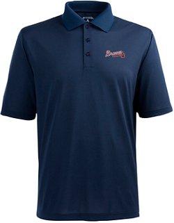 Antigua Men's Atlanta Braves Piqué Xtra-Lite Polo Shirt