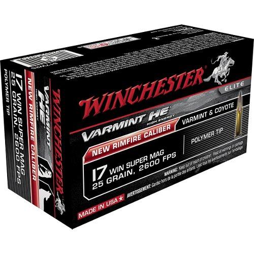 Winchester Varmint HE .17 Winchester Super Mag 25-Grain Rimfire Ammunition