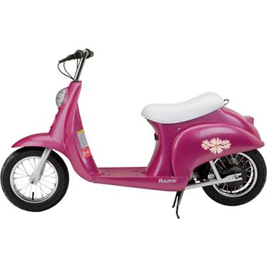 Razor Electric Scooter With Seat >> Razor Girls Pocket Mod Daisy Electric Scooter
