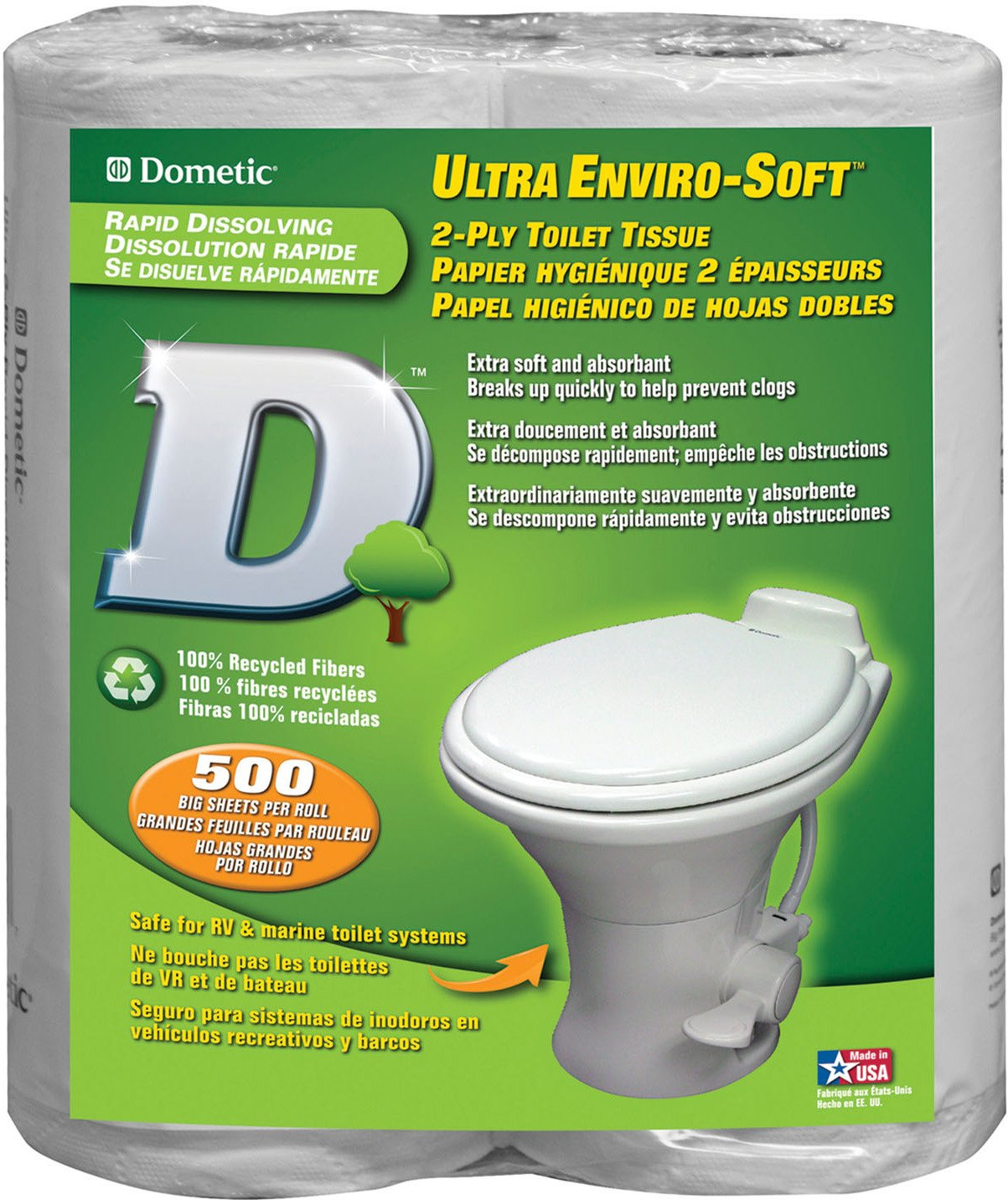 Display product reviews for Dometic Ultra Enviro-Soft 2-Ply Toilet Tissue 4-Pack