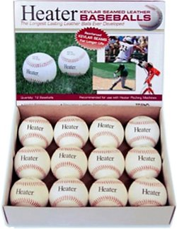 Kevlar®-Seamed Leather Pitching Machine Baseballs 12-Pack