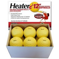 "Heater Sports 12"" Pitching Machine Softballs 12-Pack"