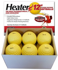 "12"" Pitching Machine Softballs 12-Pack"