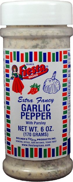Bolner Fiesta 6 oz. Extra-Fancy Garlic Pepper with Parsley Seasoning