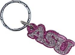 Stockdale Arkansas State University Acrylic Freeform Glitter Keychain