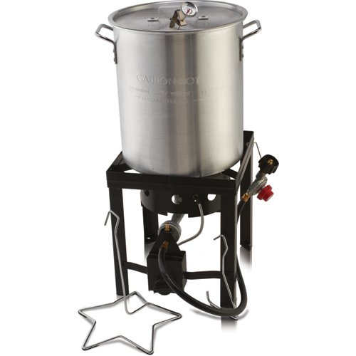 The Outdoor Gourmet 30 qt Deluxe Turkey Fryer Kit - Fryers Thanksgiving Turkey Fryer, Electric Fryers, Propane Fryers