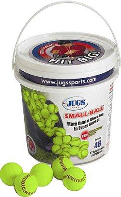 "JUGS Small-Ball® 5"" Baseballs 48-Count Bucket"