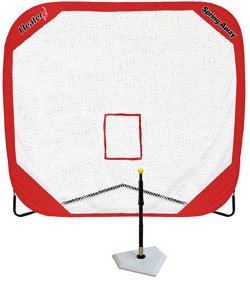 Heater Sports Spring Away Batting Tee and 7' x 7' Pop-Up Net