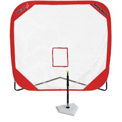 Spring Away Batting Tee and 7' x 7' Pop-Up Net