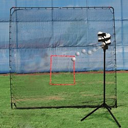 Scorpion Portable Pitching Machine and KingKong 7' x 9' Net