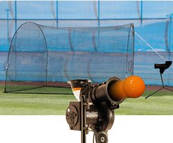 PowerAlley Lite-Ball Pitching Machine with HomeRun Batting Cage