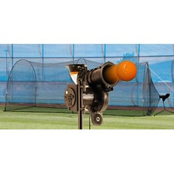 PowerAlley Lite-Ball Pitching Machine and 10' x 12' x 20' Batting Cage