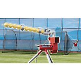 Trend Sports Heater Baseball Pitching Machine and Xtender 24 Home Batting Cage