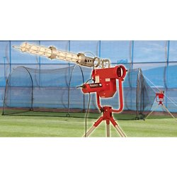 Heater Pro Real Ball Pitching Machine with Xtender 24 Home Batting Cage