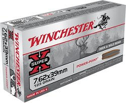 Winchester Hog Special 7.62 x 39mm 123-Grain Centerfire Rifle Ammunition