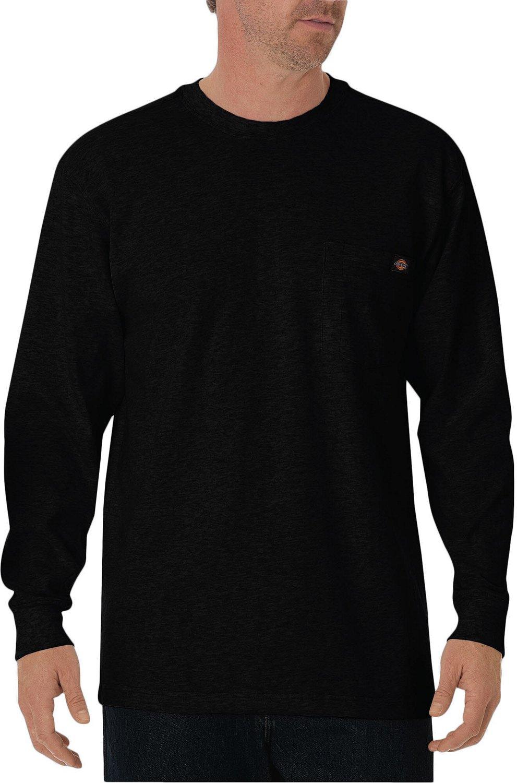 c16e2a22 Dickies Men's Heavyweight Crew Neck Long Sleeve T-shirt   Academy