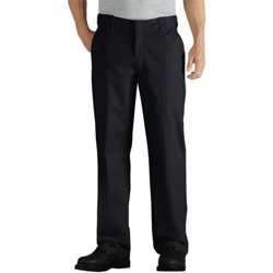 Men's Relaxed Fit Straight Leg Twill Comfort Waist Pant