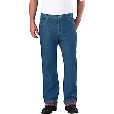 5f9a859a2f9 Dickies Men's Relaxed Fit Straight Leg Flannel Lined Jean