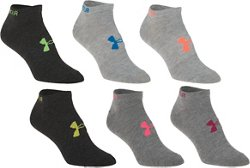 Under Armour Adults' Liner No-Show Socks 6 Pack