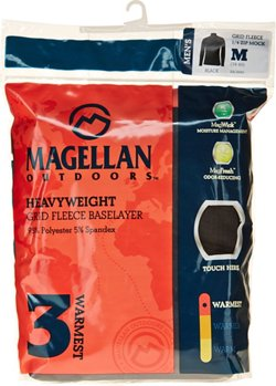 Magellan Outdoors Men's Thermal Grid Fleece 1/4 Zip Heavyweight Baselayer Shirt