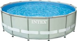 INTEX 16 ft x 48 in Round Ultra Frame Pool Set with 1,500 Gal Filter Pump
