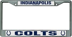 Rico Indianapolis Colts Chrome License Plate Frame