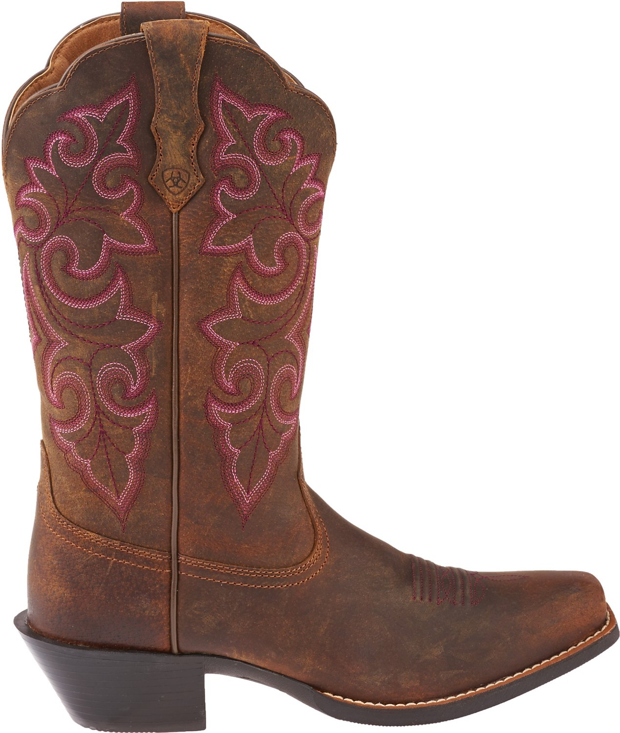 4a52a299630 Ariat Women's Round Up Square-Toe Cowboy Boots